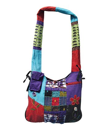 Blue & Purple Floral Patchwork Hobo