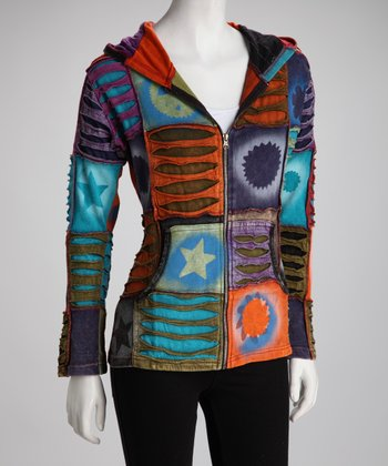 Purple & Orange Patchwork Jacket