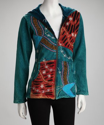 Aqua Abstract Jacket