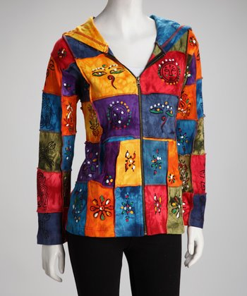 Rainbow Patchwork Jacket