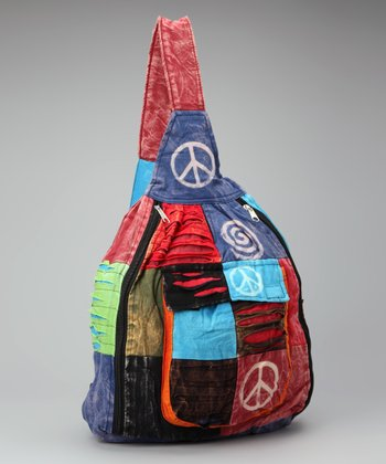 Red & Purple Peace Sign Backpack