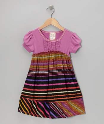 Violet Rainbow Stripe Dress - Toddler & Girls