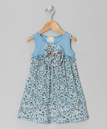 Blue Blossom Dress - Girls