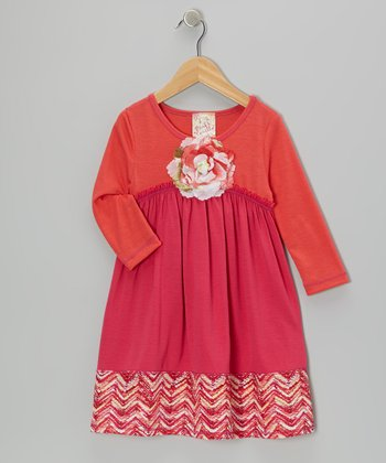 Fuchsia Big Ol' Blossom Dress - Toddler & Girls