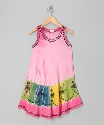 Pink Dip-Dye Swing Dress - Toddler & Girls