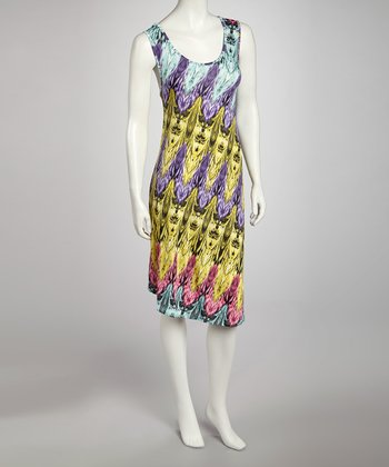Purple Feather Dress - Women