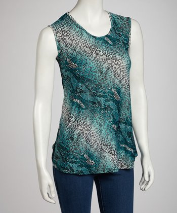 Green Ocean Beach Top - Women