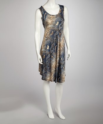 Blue Snakeskin Dress - Women