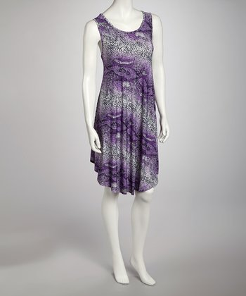 Purple Snakeskin Dress - Women