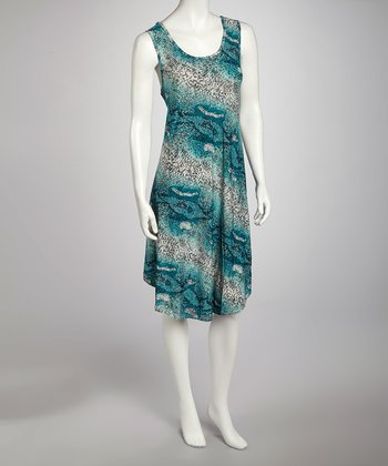 Turquoise Snakeskin Dress - Women