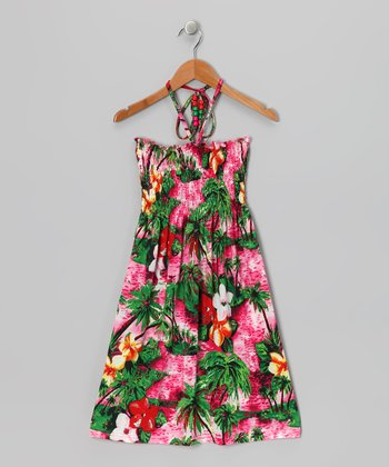 Red Lei Halter Dress - Toddler & Girls
