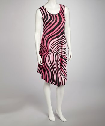 Fuchsia Swirl Dress - Women