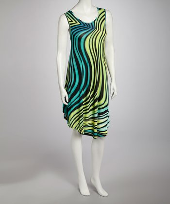 Lime Swirl Dress - Women