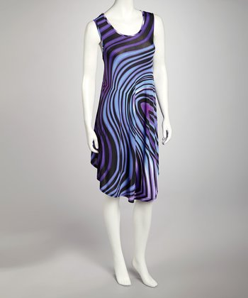Purple Swirl Dress - Women