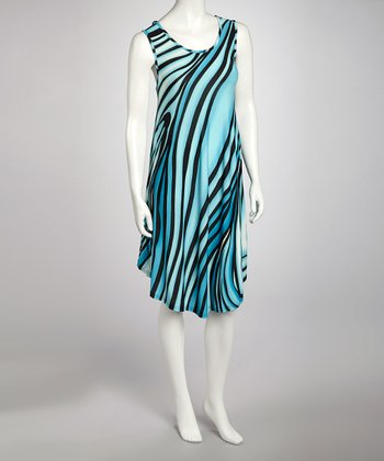 Turquoise Swirl Dress - Women