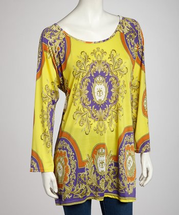 Yellow Elegant Tunic