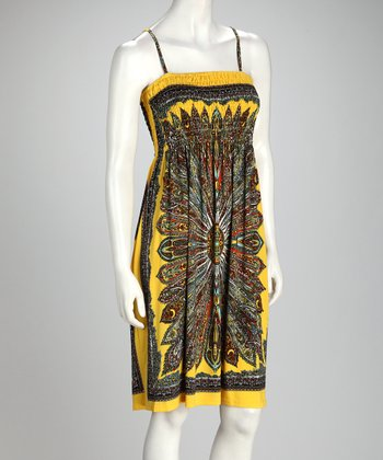 Yellow Arabesque Dress