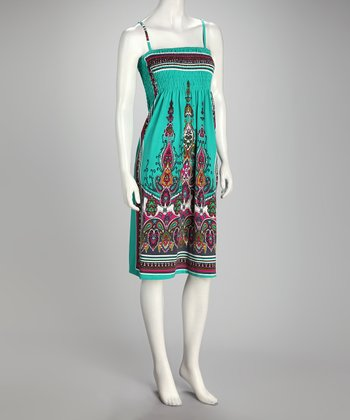 Sea Green Paisley Dress