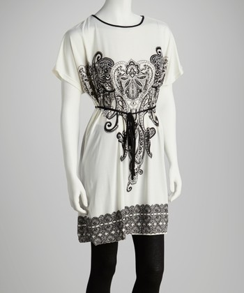White Paisley Tunic