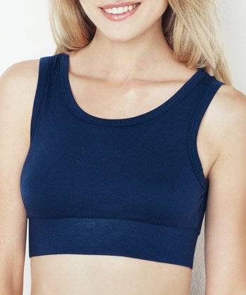 Midnight Blue Keyhole Crop Tank - Women