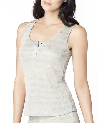 Luxe Stripe Cutout Tank - Women