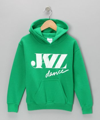 Green 'Jazz Dance' Hoodie - Girls