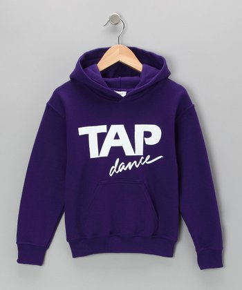 Purple 'Tap Dance' Hoodie - Girls