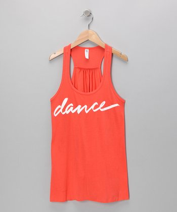 Tangerine 'Dance' Tank - Girls