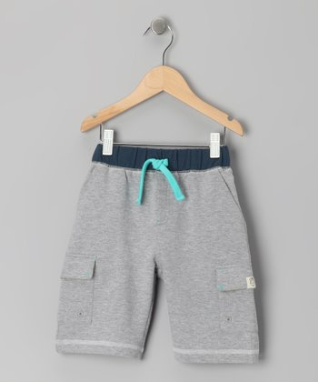 Gray Heather Knit Cargo Shorts - Toddler & Kids