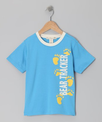 Ocean Blue 'Bear Tracker' Tee - Toddler & Kids