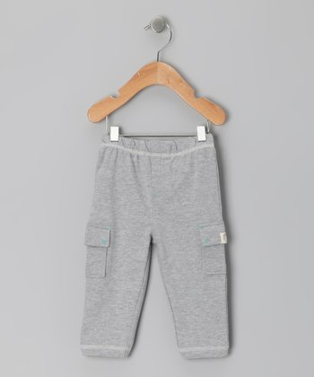 Gray Heather Cargo Leggings - Infant