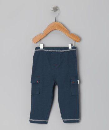 Navy Blue Cargo Leggings - Infant