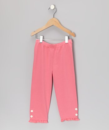 Flamingo Pink Capri Leggings - Toddler & Girls