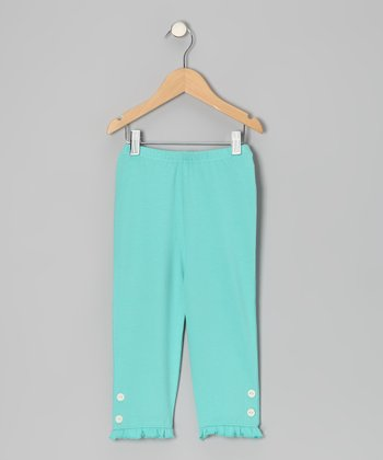 Pool Blue Capri Leggings - Toddler & Girls