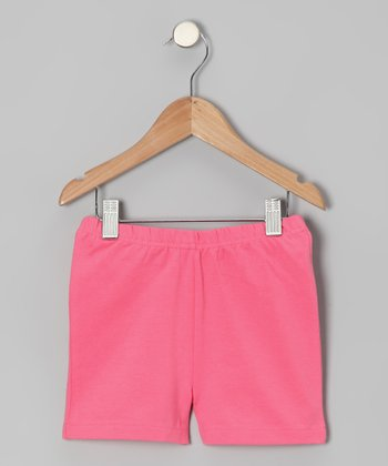 Flamingo Pink Shorts - Toddler & Girls