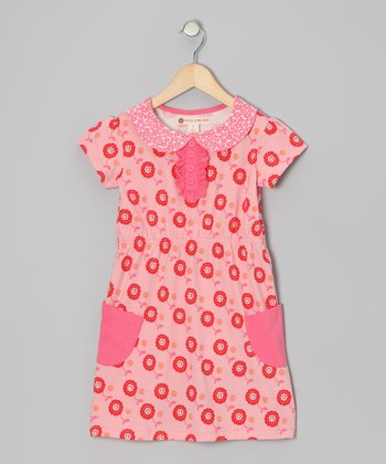 Pink Dot Floral Dress - Toddler & Girls