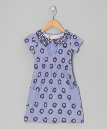 Violet Dot Floral Dress - Toddler & Girls