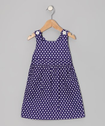Deep Wisteria Polka Dot Jumper - Toddler & Girls