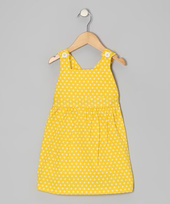 Aspen Yellow Polka Dot Jumper - Toddler & Girls