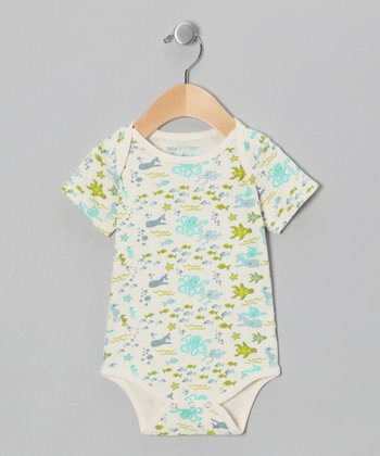 Seafoam Sea Life Bodysuit - Infant