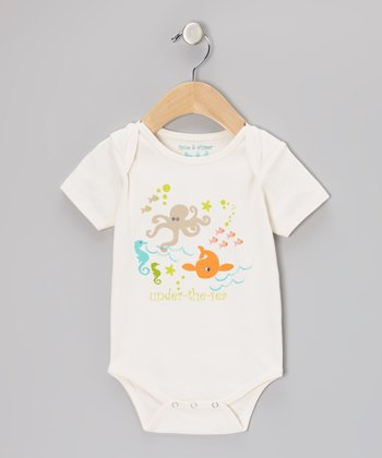 White Gardenia 'Under the Sea' Bodysuit - Infant