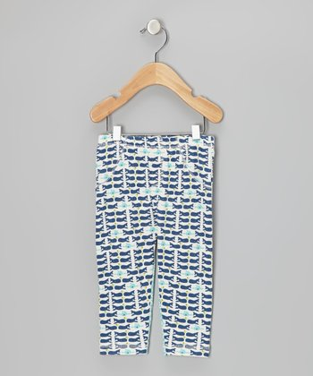 Royal Blue & Teal Whale Leggings - Infant