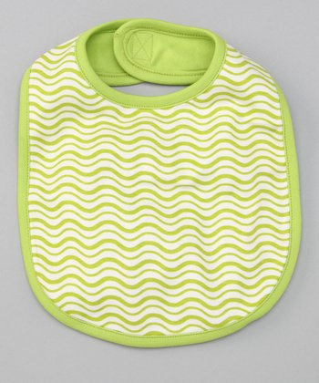 Apple Green Wave Reversible Bib
