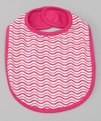 Fuchsia Wave Reversible Bib