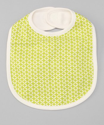 Lime Geometric Reversible Bib