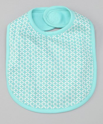 Teal Geometric Reversible Bib
