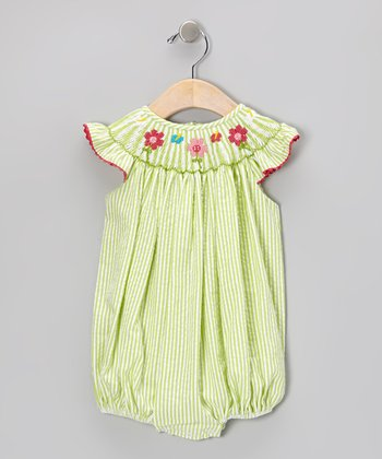 Sweet Teas Lime Seersucker Bubble Bodysuit - Infant & Toddler