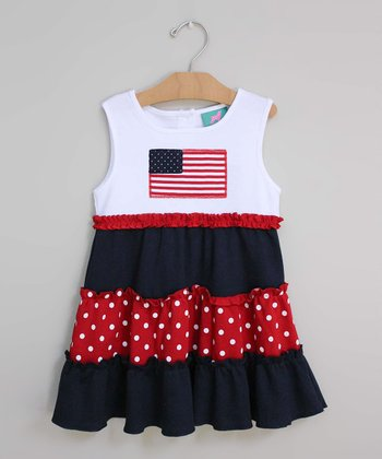 Red Flag Dress - Infant, Toddler & Girls