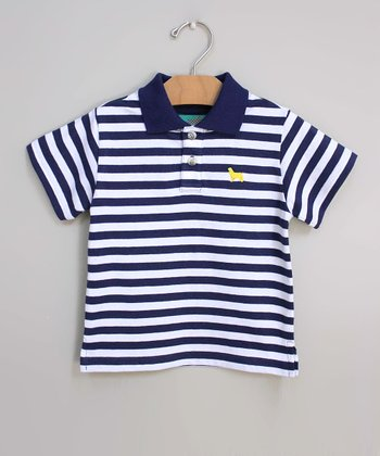 Navy Stripe Polo - Infant, Toddler & Boys