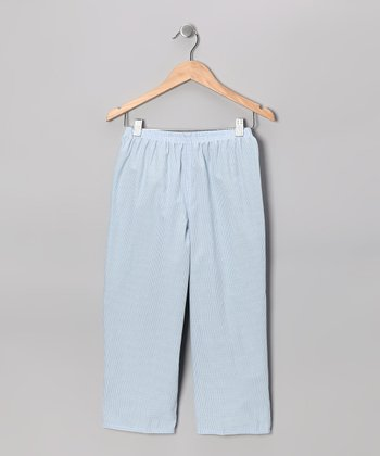 Blue & Green Reversible Pants - Infant & Kids